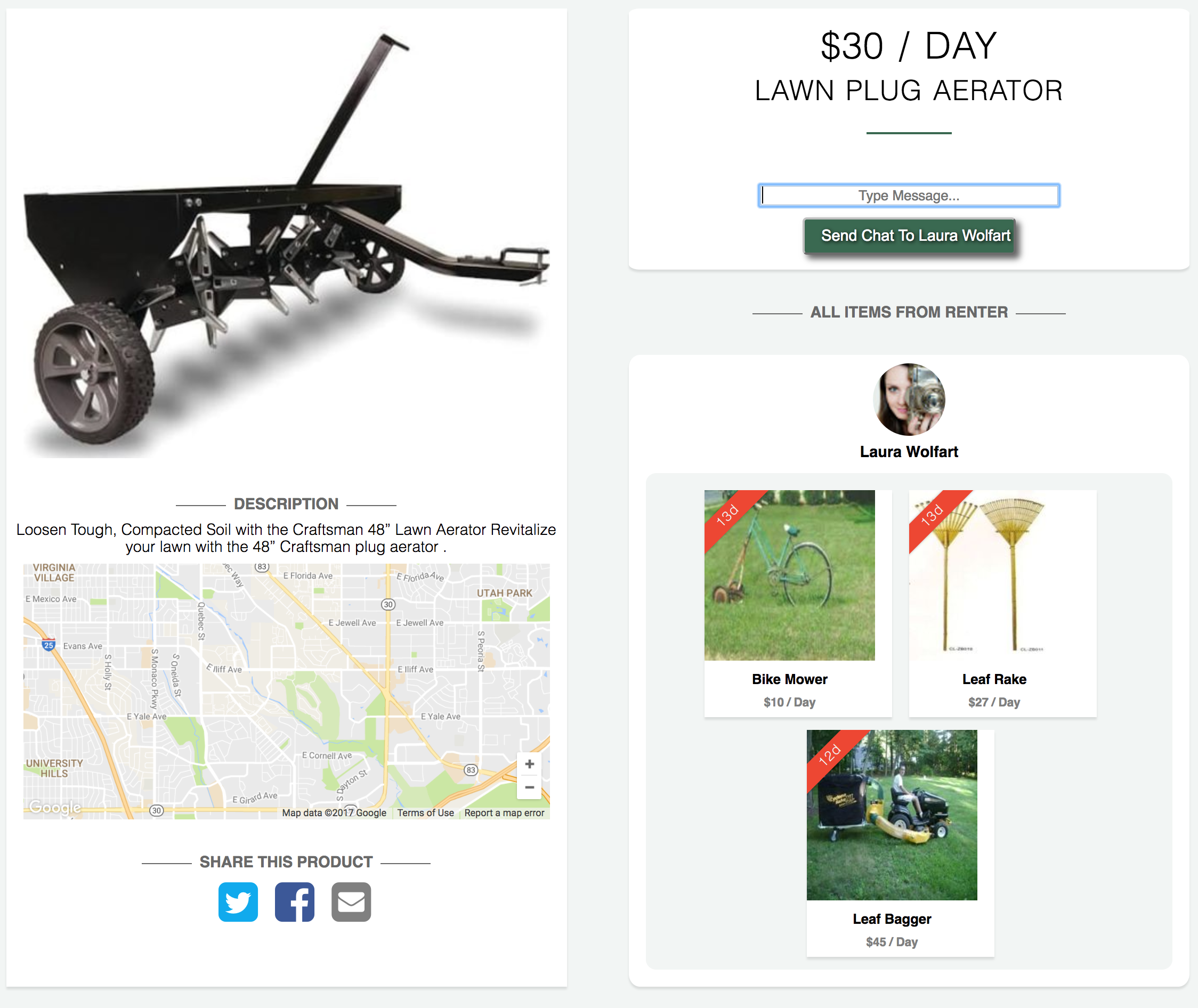 let it mow is an app where people can share yard equipment